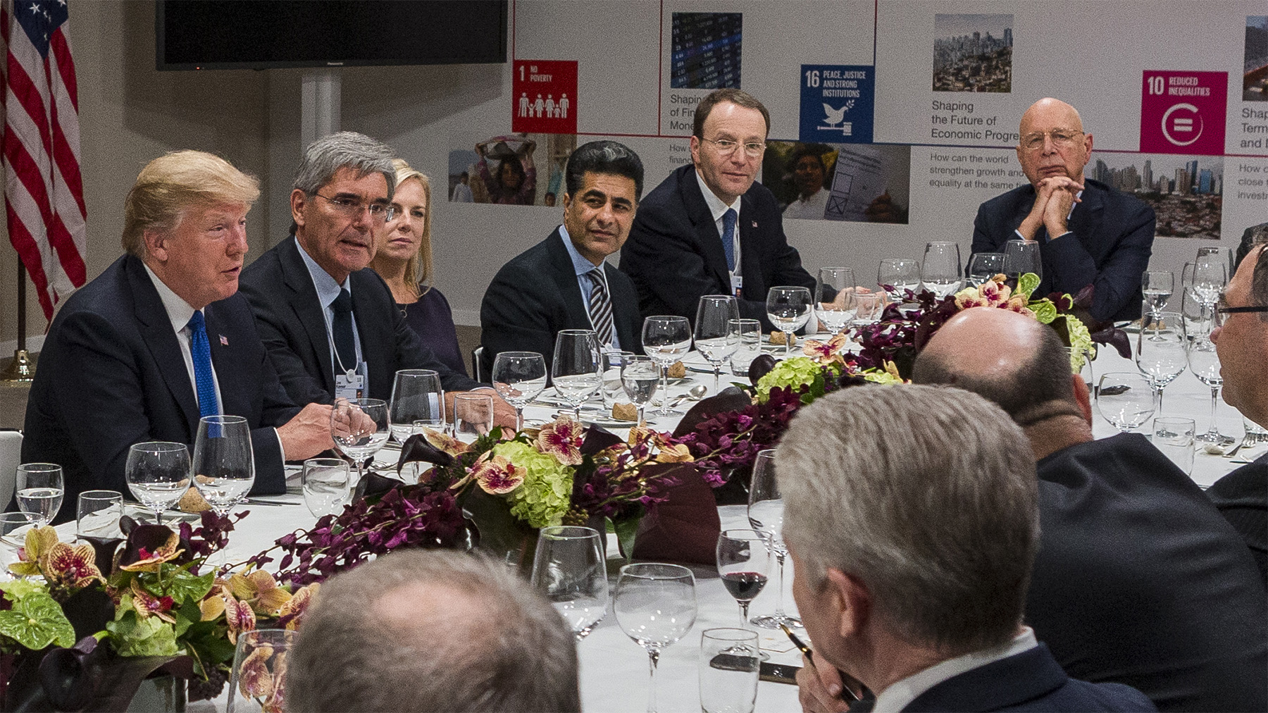 Private Business Leaders' Dinner hosted by President Trump at the Annual Meeting 2018 of the World Economic Forum in Davos, January 25, 2018.