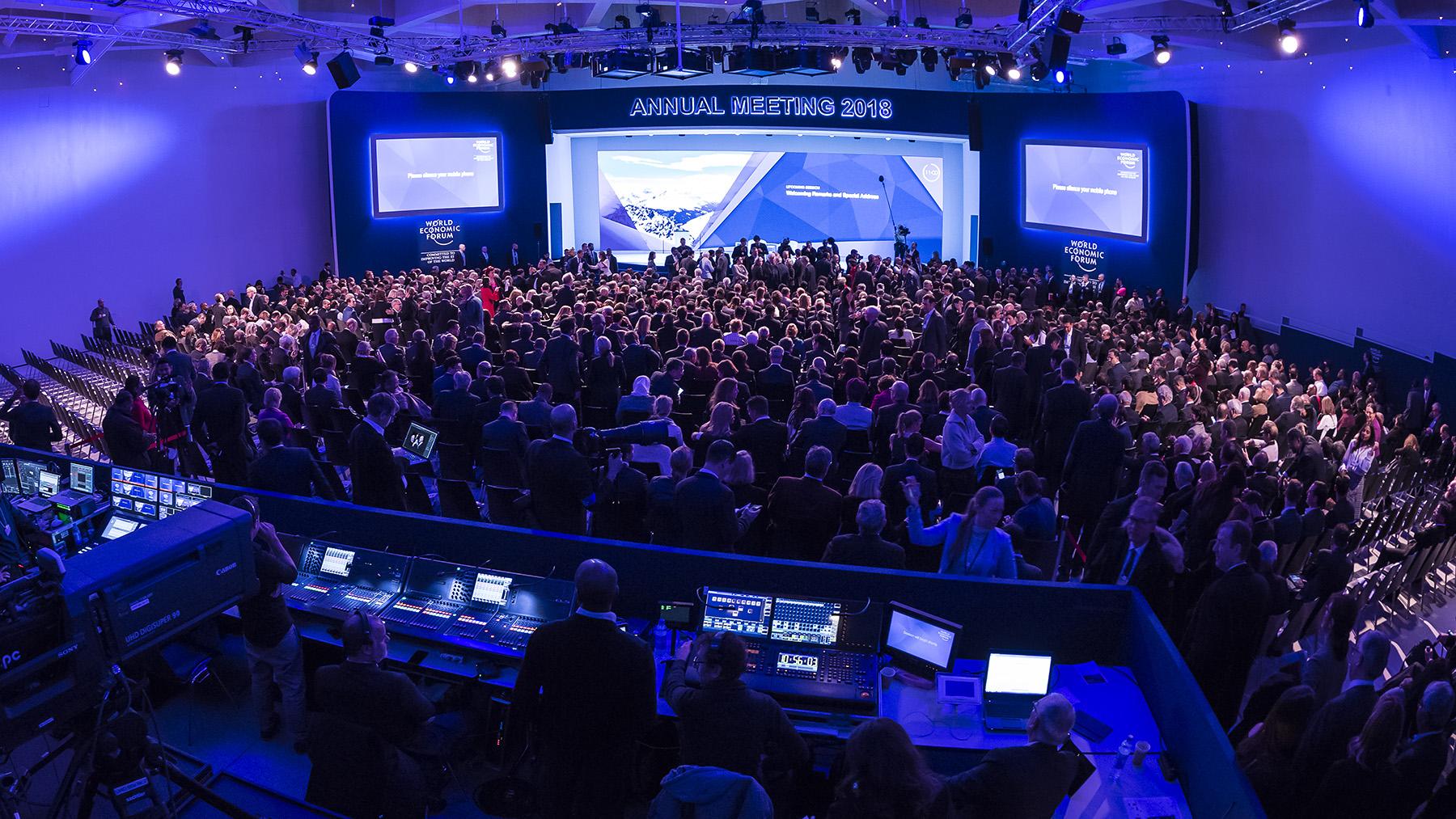 Veranstaltungsraum auf dem Weltwirtschaftsforum in Davos 2018